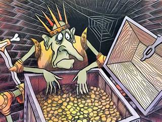 Добрая фея прислала вам 100 тысяч рублей. Помечтаем? - над златом чахнет.jpg